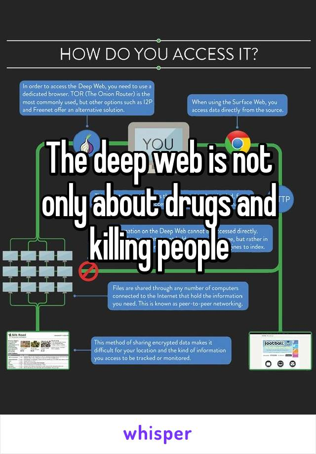 The deep web is not only about drugs and killing people
