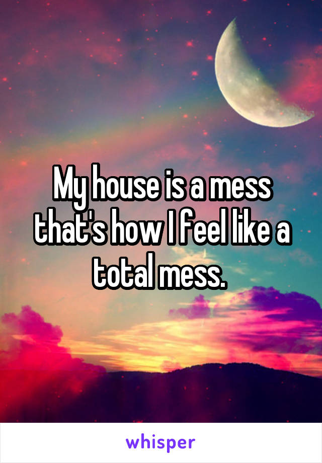 My house is a mess that's how I feel like a total mess.