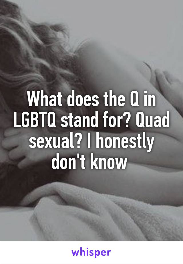 What does the q in lgbtq stand for