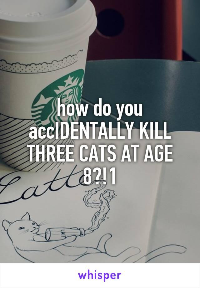 how do you accIDENTALLY KILL THREE CATS AT AGE 8?!1