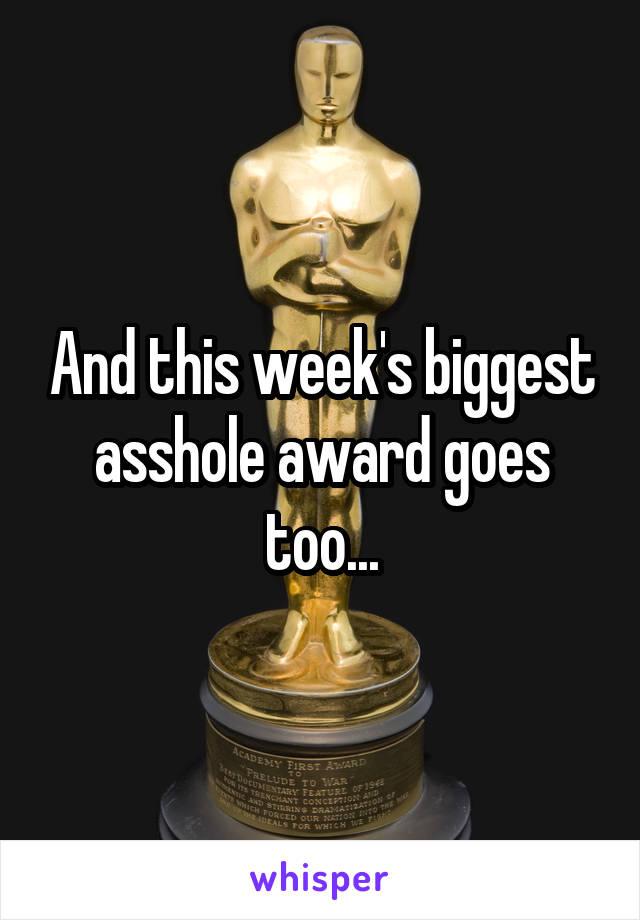 Her asshole award