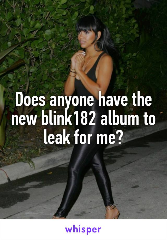 Does anyone have the new blink182 album to leak for me?