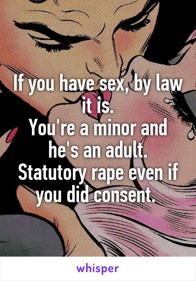 Law sex with a minor