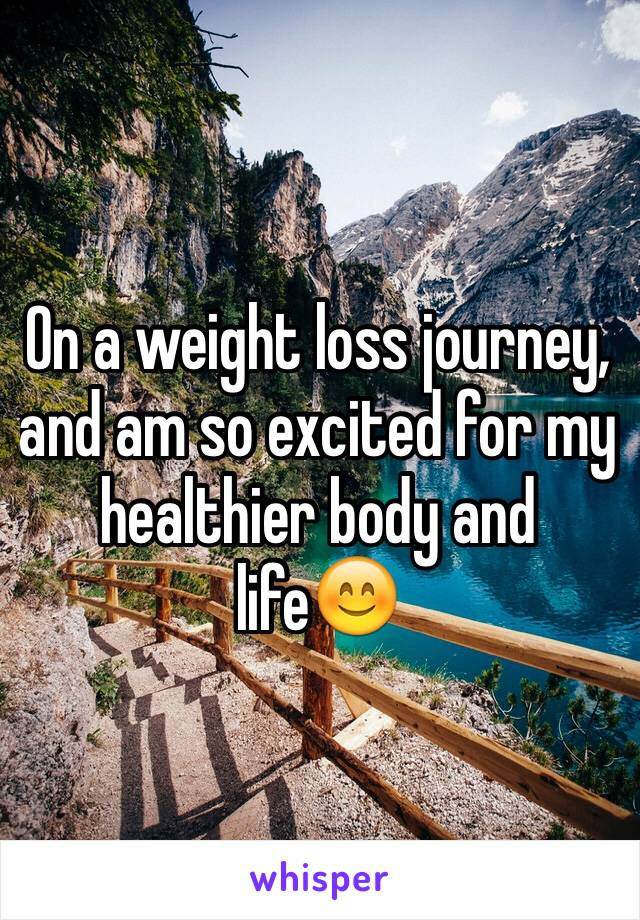 On a weight loss journey, and am so excited for my healthier body and life😊