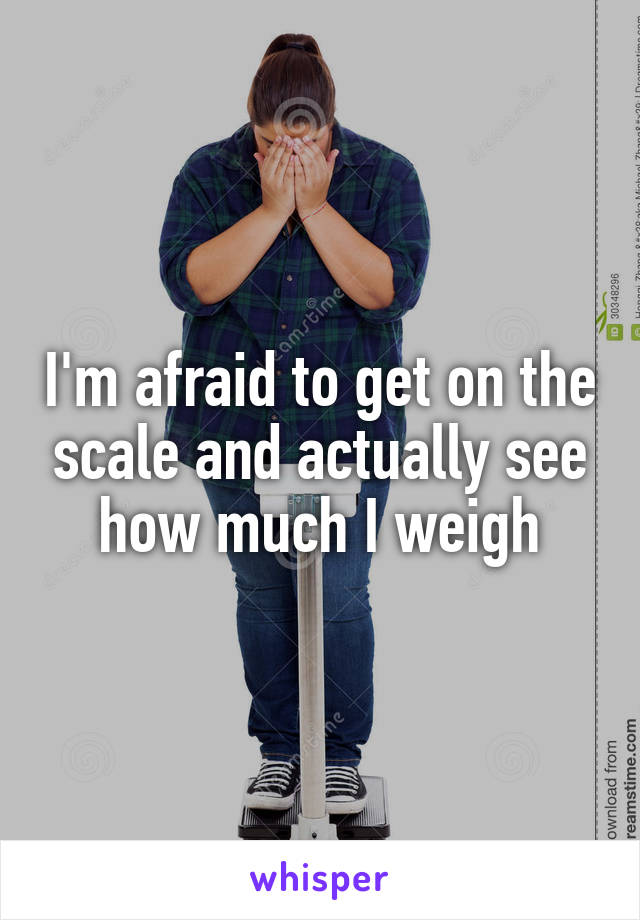 I'm afraid to get on the scale and actually see how much I weigh