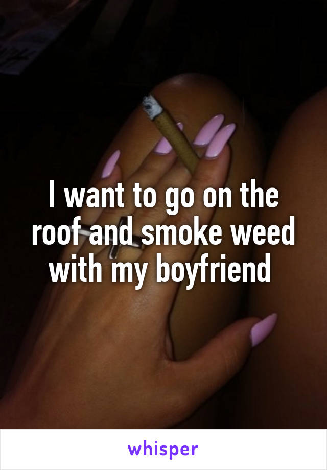 I want to go on the roof and smoke weed with my boyfriend