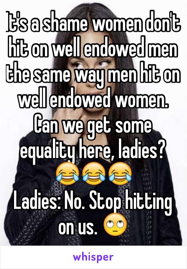 Women hitting on men