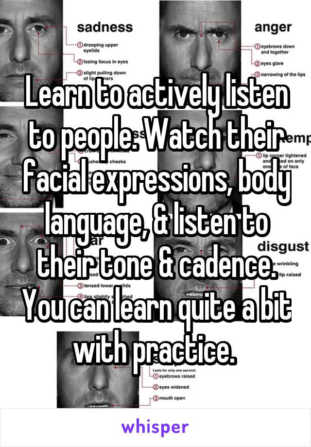 widened eyes body language