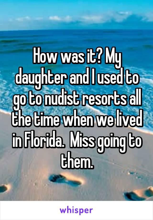 Daughter nudist