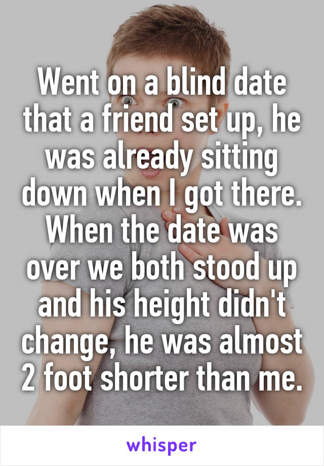 my date with blind date essay My disastrous date october 18th, 2014 my disastrous date essay alicia ann smith years ago my good friend set me up on a blind date.