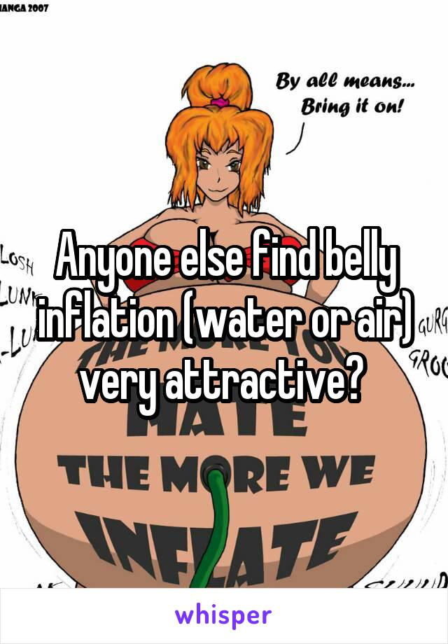 belly inflation female
