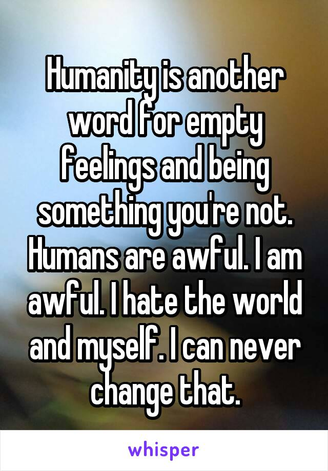 Another word for being something