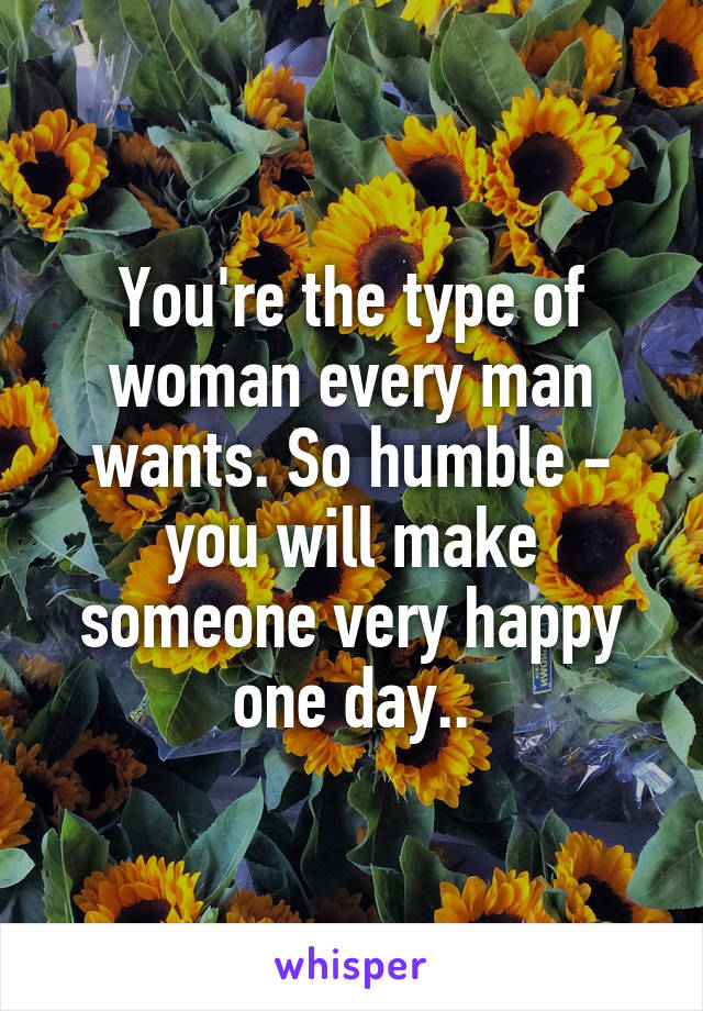 the woman every man wants