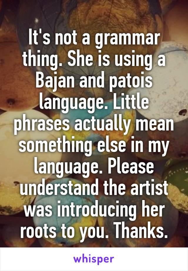 patois language