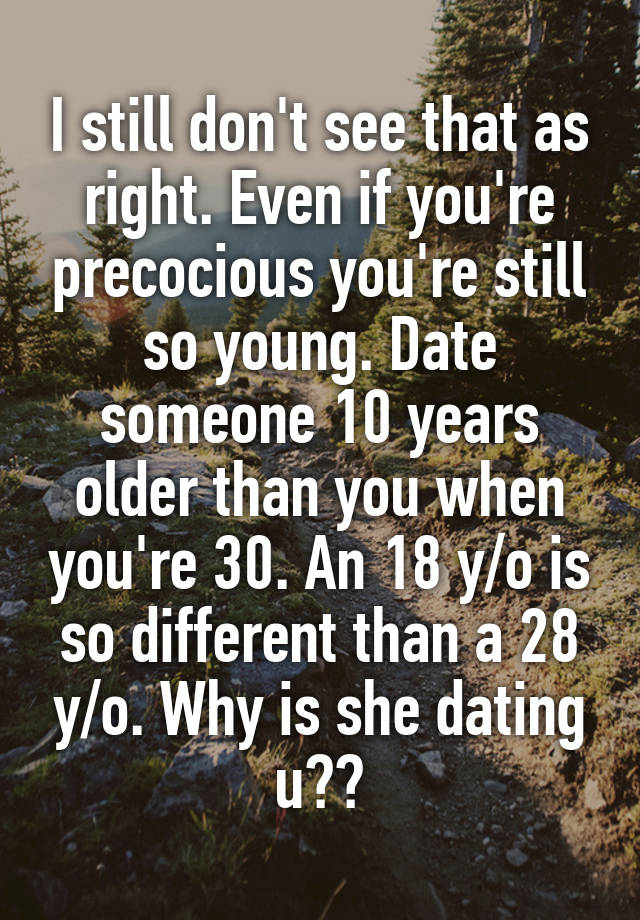 dating someone 30 years older