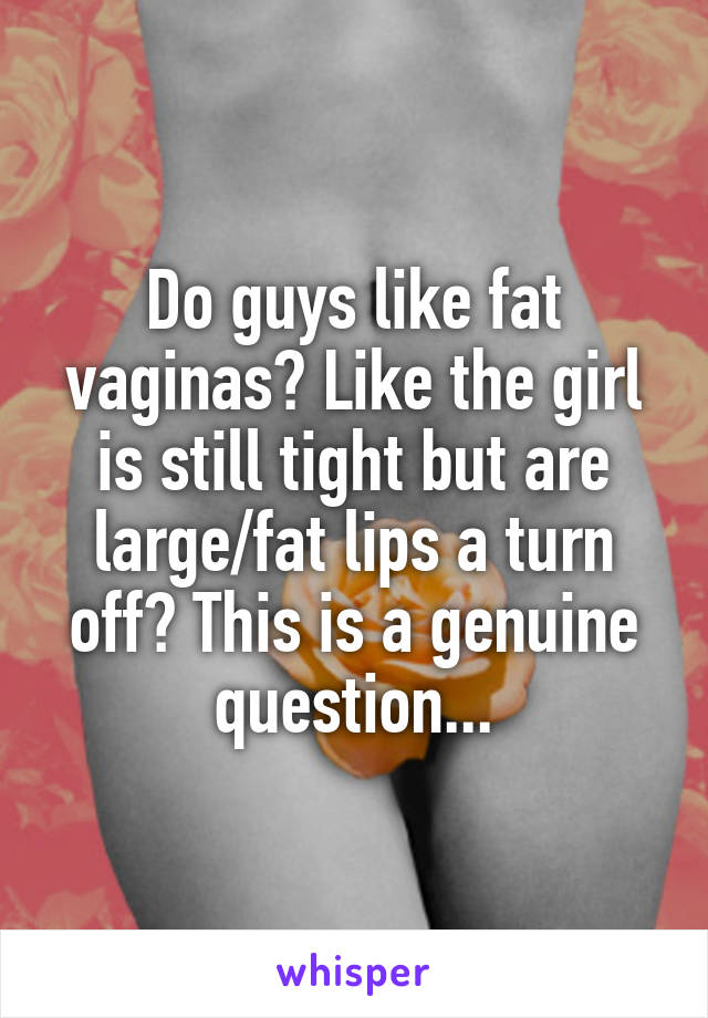 Do Guys Like Fat Vaginas Like The Girl Is Still Tight But Are Large Fat Lips