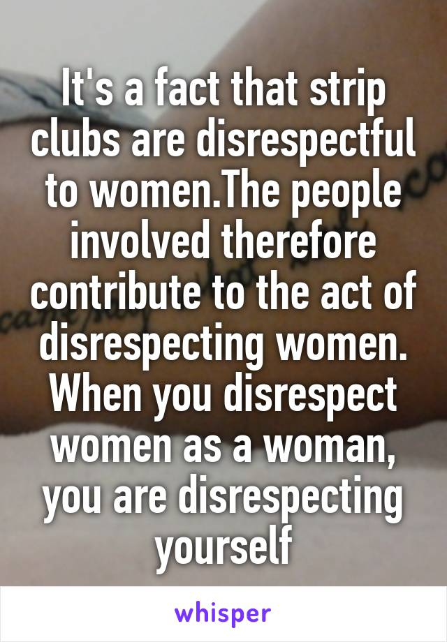 disrespecting women