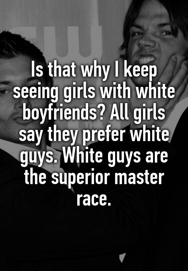 race captions guys black white girls Master