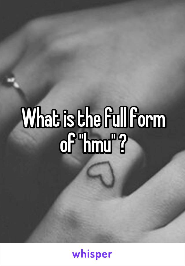What is the full form of