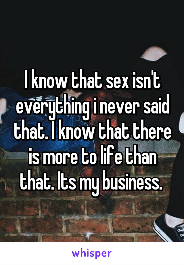 Everything there is to know about sex