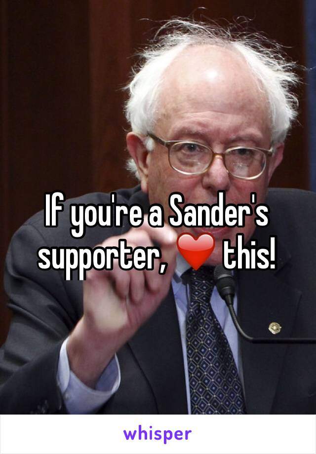 If you're a Sander's supporter, ❤️ this!