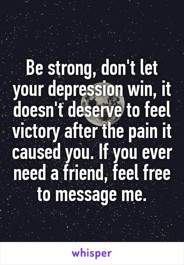let depression