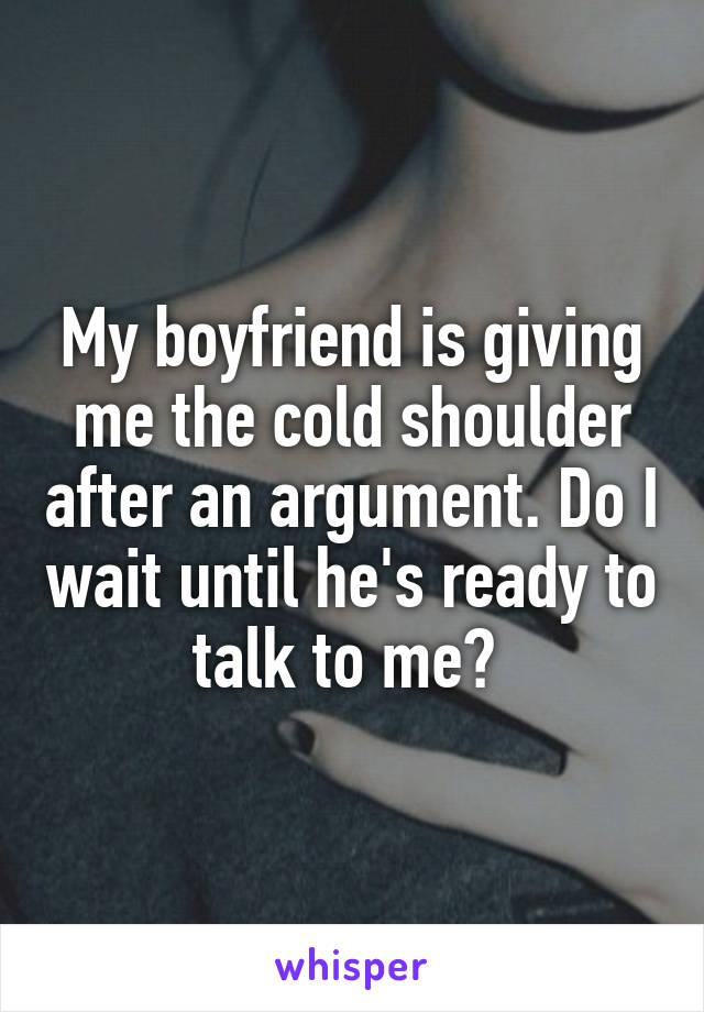 my boyfriend is cold towards me