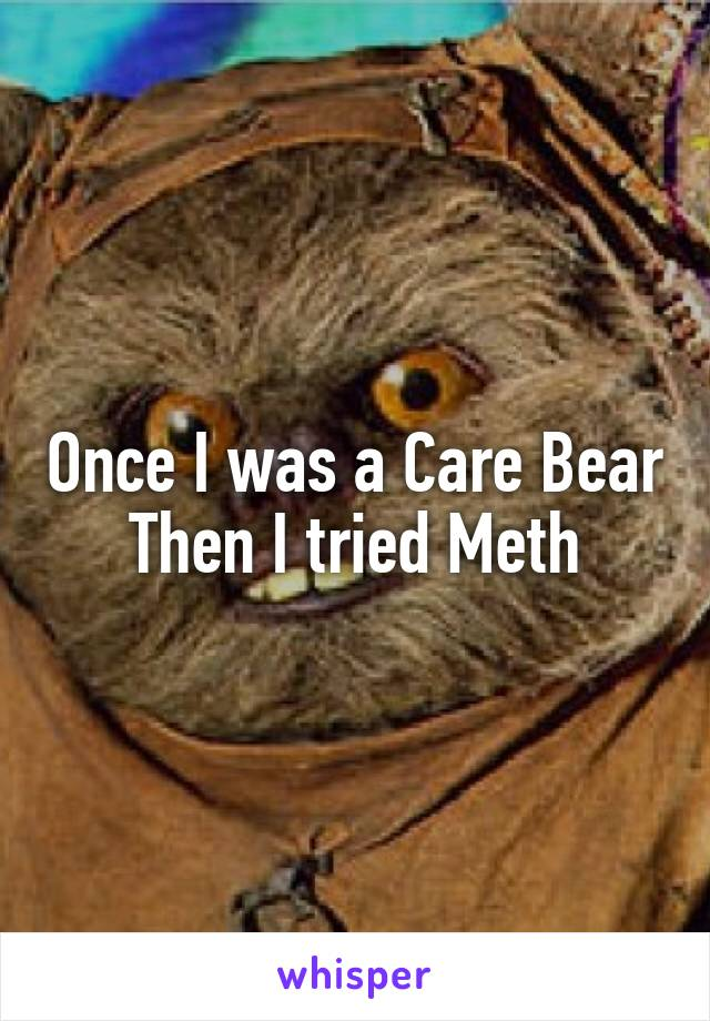 Once I was a Care Bear Then I tried Meth