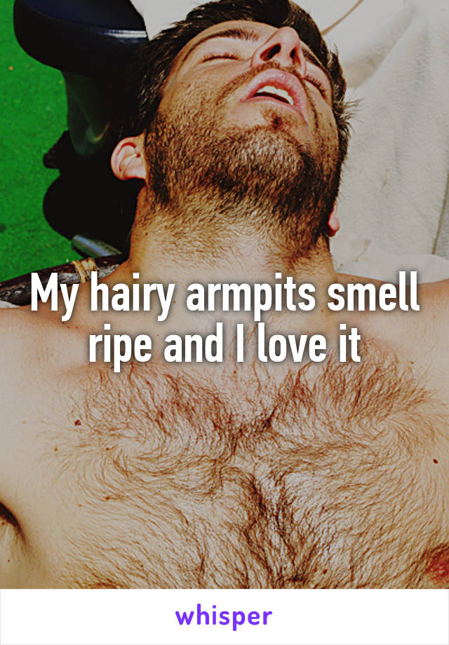 My hairy armpits smell ripe and I love it