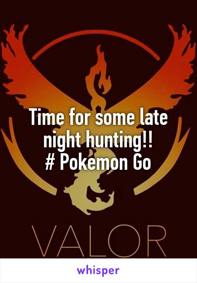 Time for some late night hunting!! # Pokemon Go