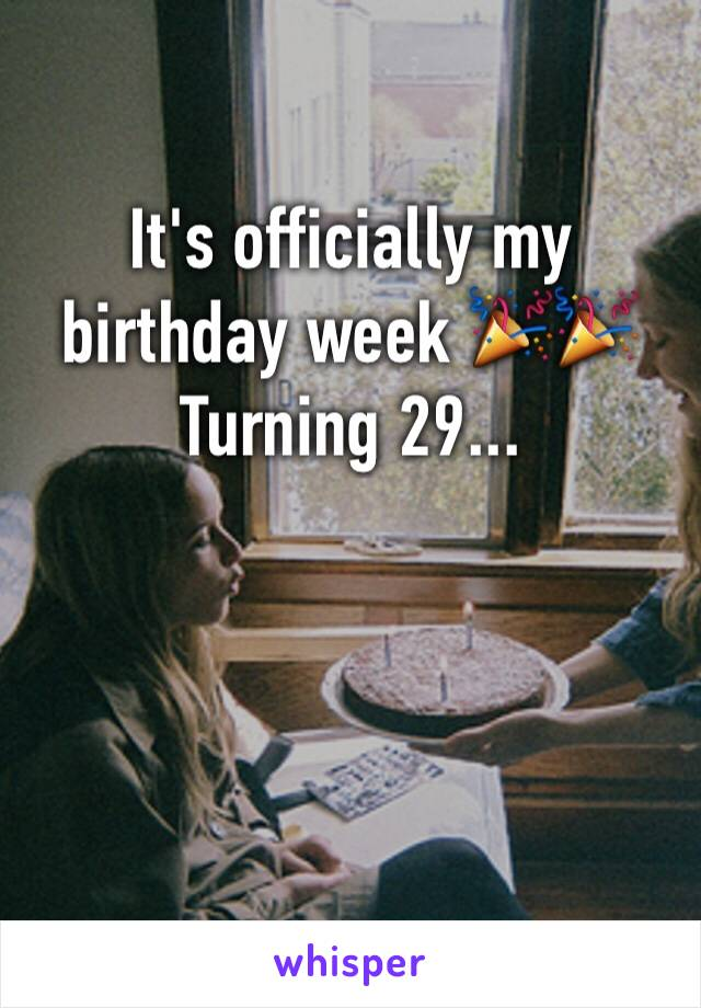 It's officially my birthday week 🎉🎉 Turning 29...