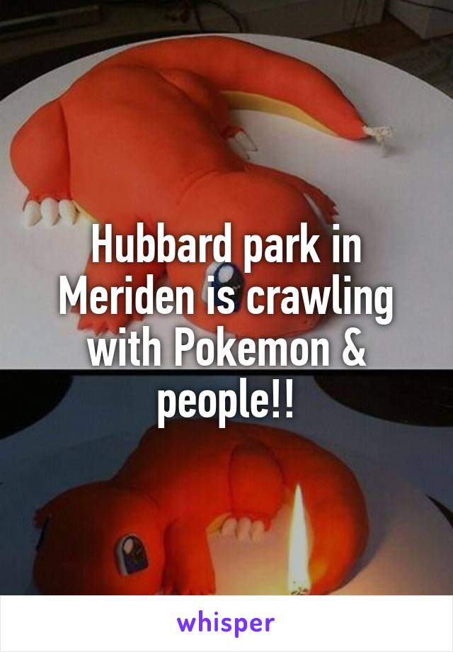 Hubbard park in Meriden is crawling with Pokemon & people!!