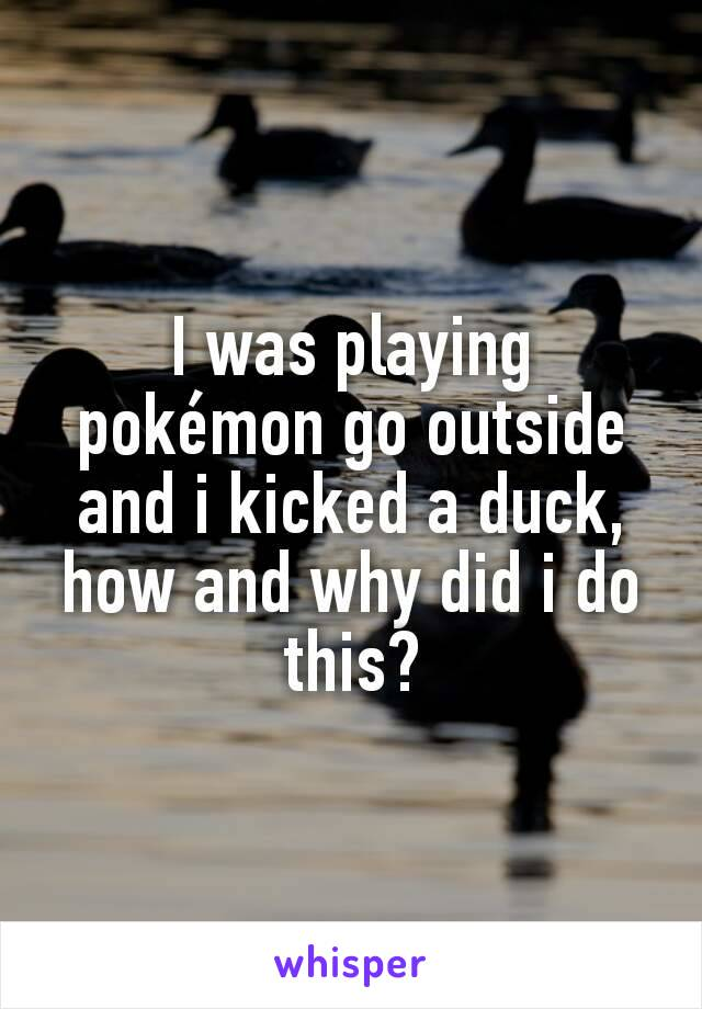 I was playing pokémon go outside and i kicked a duck, how and why did i do this?