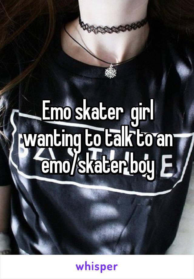 emo skater girl