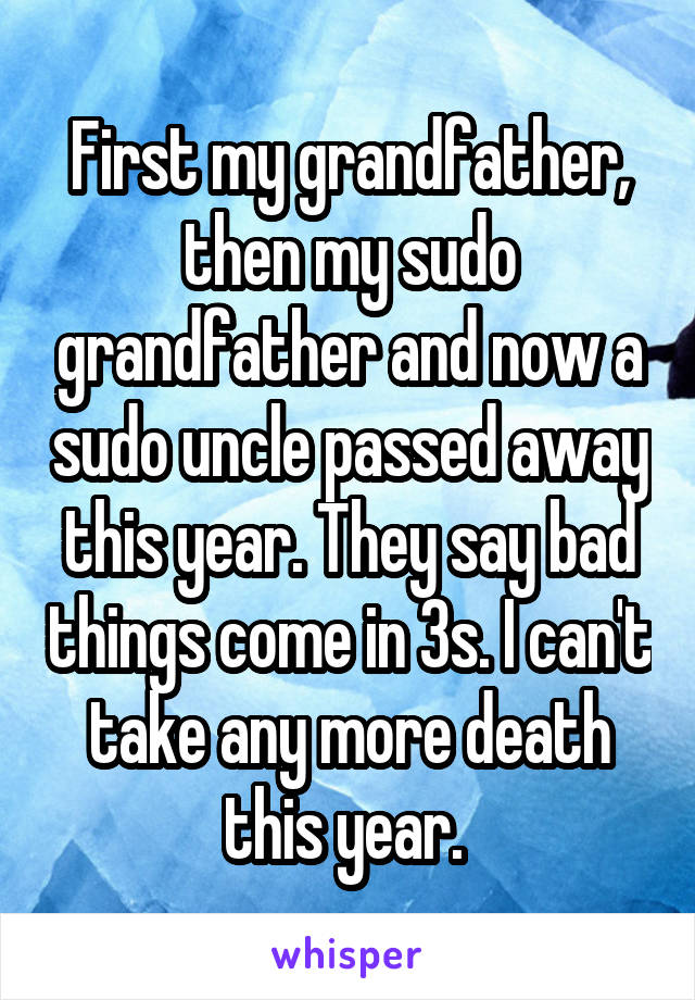 death of my grandfather