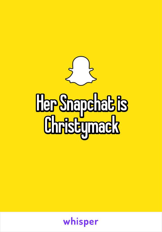 Christy mack snapchat