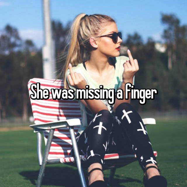 She was missing a finger