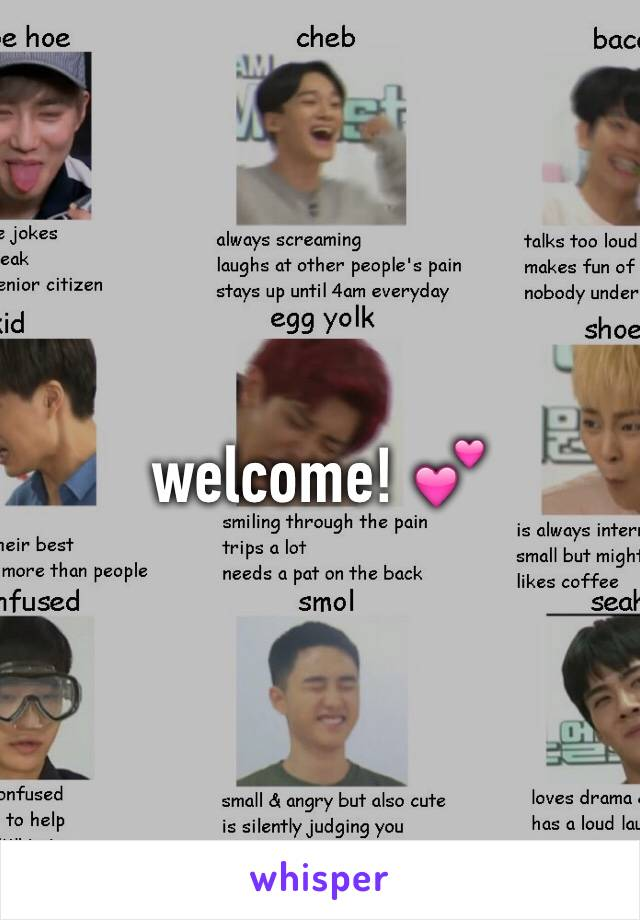 welcome! 💕