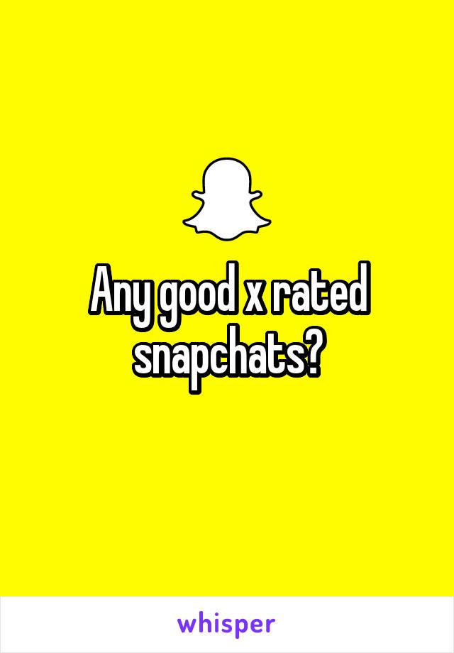 X rated snapchat