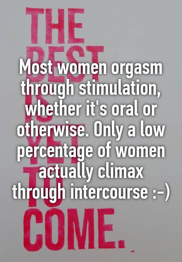 Orgasm stimulation