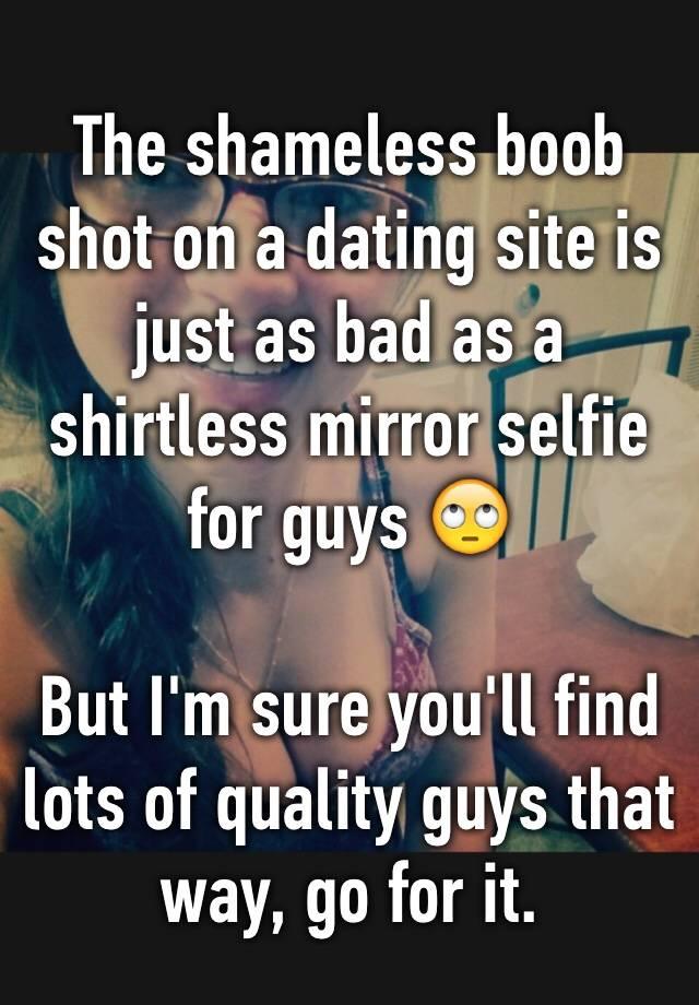 dating site shirtless pics
