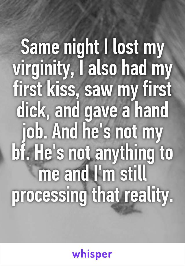 Realize, gave my boyfriend hand job words... super