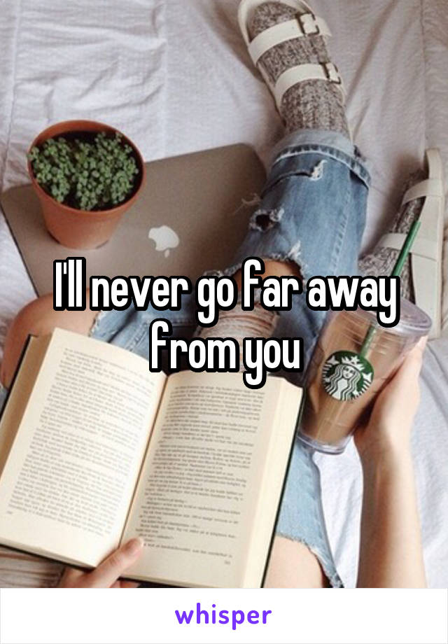 I'll never go far away from you