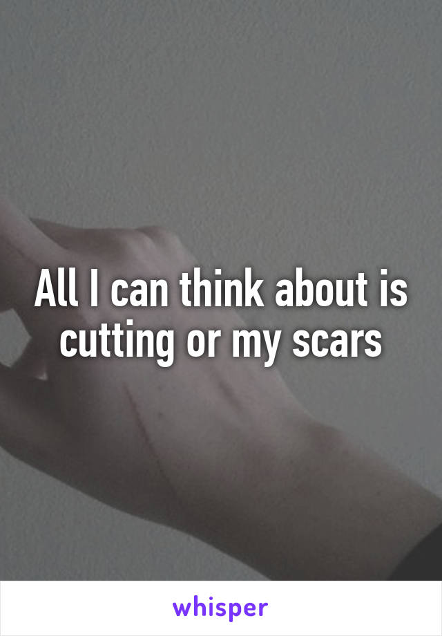 All I can think about is cutting or my scars
