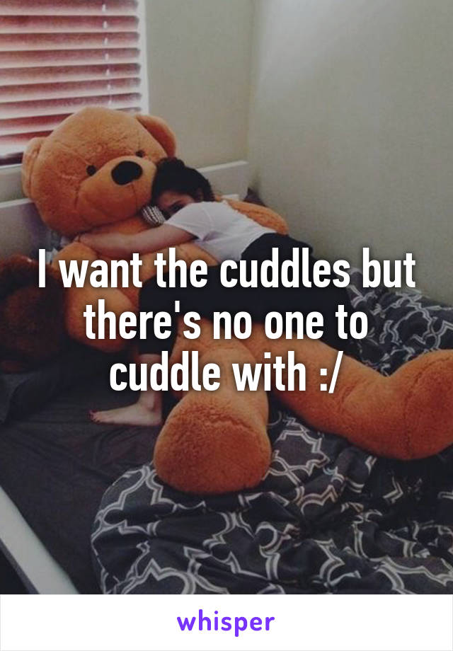 I want the cuddles but there's no one to cuddle with :/