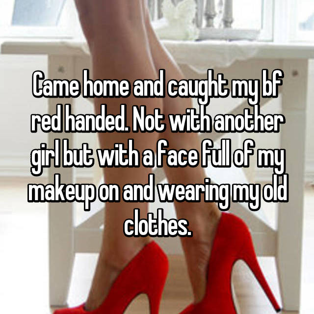 Caught crossdressing husband my