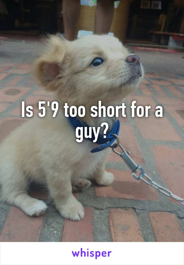Is 5'9 too short for a guy?