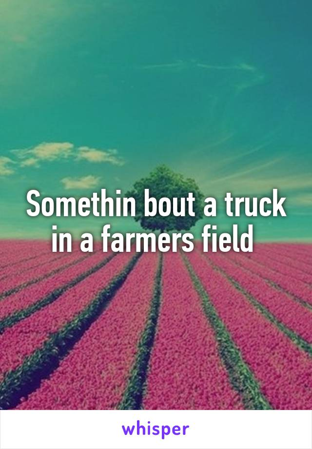 Somethin bout a truck in a farmers field