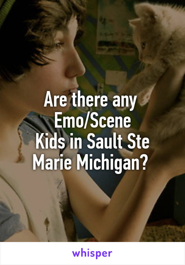 Are there any  Emo/Scene Kids in Sault Ste Marie Michigan?