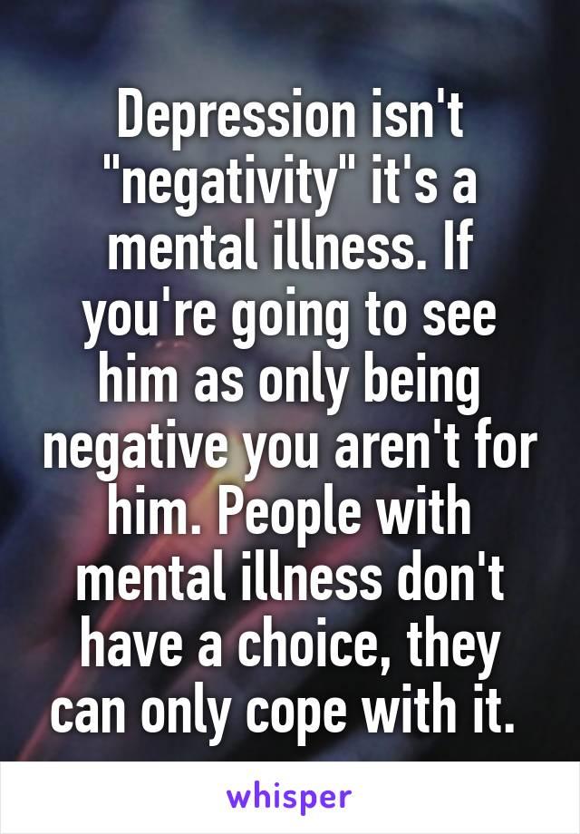 Depression isn't